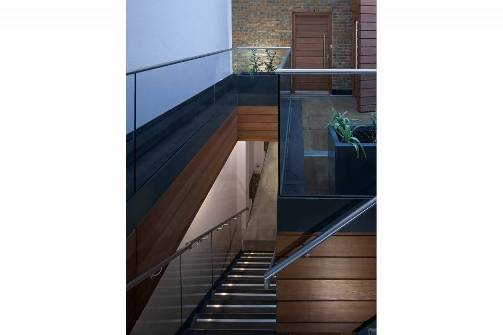 34-36 Bruton Street Stair Exterior