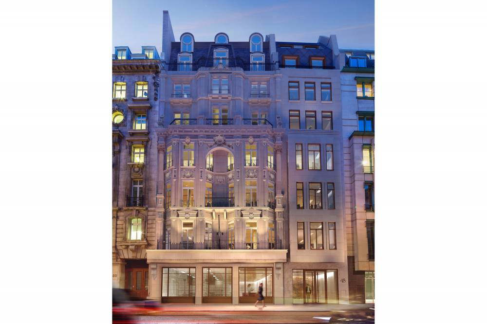 48 Pall Mall facade night