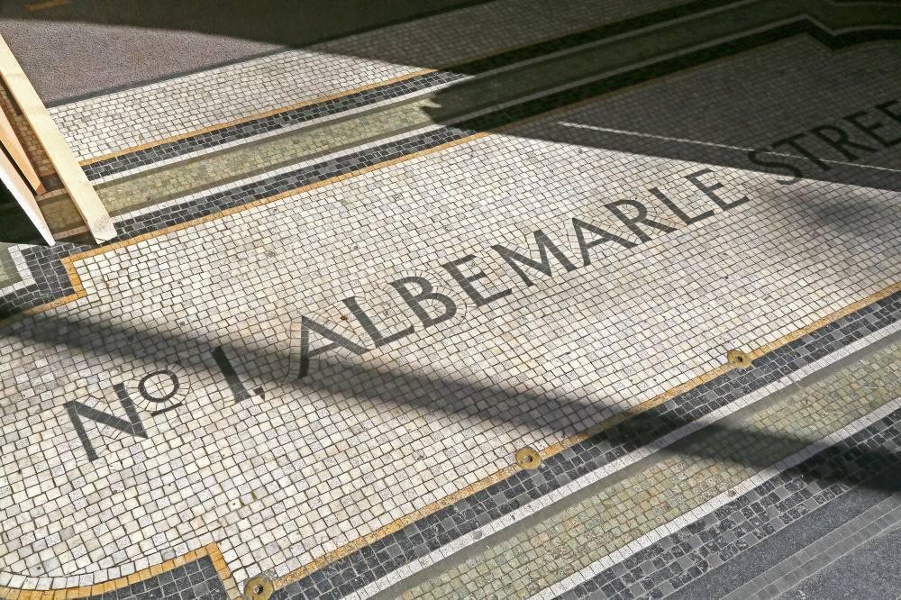 Albemarle Street entrance mosaic