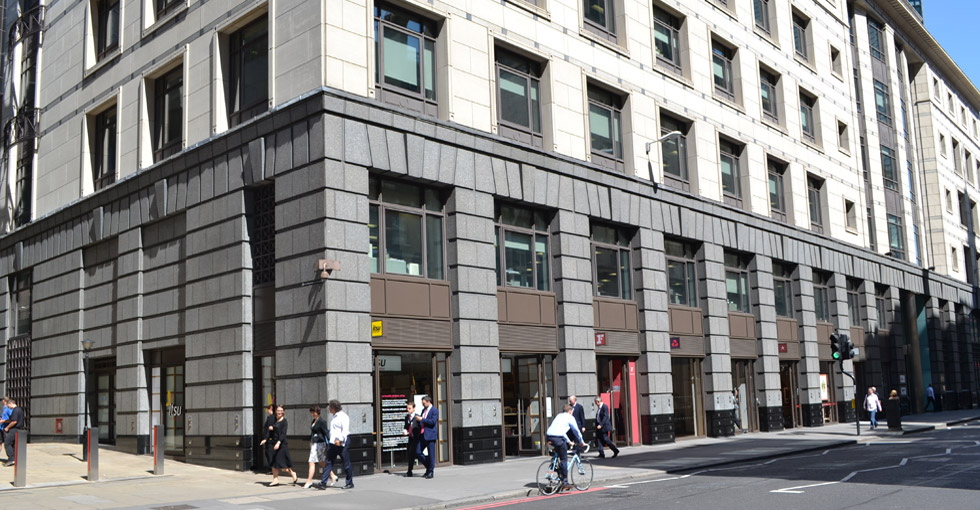 55 Bishopsgate Retail Units Complete On Site In The